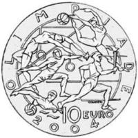 Olympic Games XXVIII Athens 2004. Commemorative Coin, San Marino