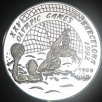 Olympic Games XXVII Barcelona 1992. Commemorative Coin, Laos